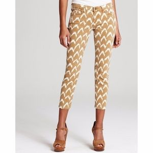 7 For All Mankind 26 Ikat Printed Skinny Jeans